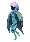 Blue Belle Bird by Ithlini