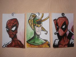 Spidey, Loki and Pool by JustBro67