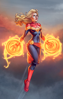 Captain Marvel Takes Flight by JamieFayX