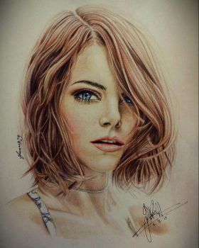 Emma Stone by ObscuredOrchid