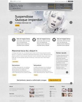 4:79 AM Website Template by AaronVogelstein
