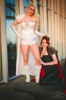 Emma Frost and Madelyne Pryor by Zicue