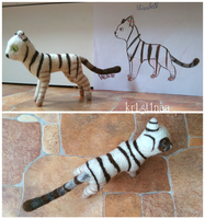Contest Prize - Striped Cat by kr1st1naa