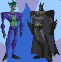 Joker Beyond: Batman and Joker by singory