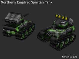 Northern Empire: Spartan Tank by DelphaDesign