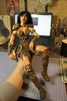 Xena in progress by MarylinFill