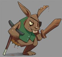 Zork- Chocolate Bunny Veteran by Zubby