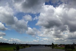 Clouds over the Maas River (Netherlands) by rpfaas