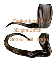 Snake tail pack by 3DigitalStock