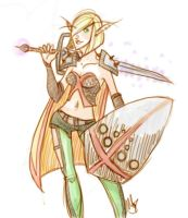 Warrior Elf by rethe