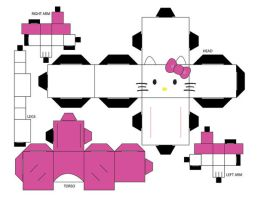 Hello Kitty Cubee Template by EliseIsVain