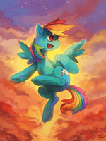 Commission: Rainbow Dash by salanchu