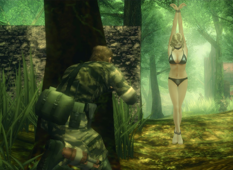 Metal Gear Solid: Eve bound and gagged 2 by benja100