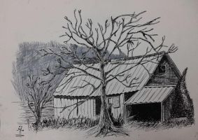 pen and ink by gankutsuoou