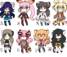 Point adoptables set 3 -open- by Anini-Chu