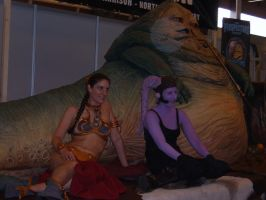 Slave Leia and some purple by Sam-wyat