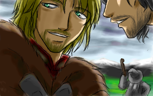 Boromir and Aragorn Two by famira