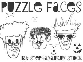puzzle faces by Stephasaurus-Stock