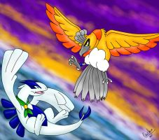 the sky and the ocean by Pikachim-Michi