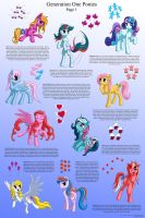 G1 Ponies Character Sheet, Page One by Starbat