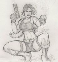 Lara Croft, once again by Holly-the-Laing