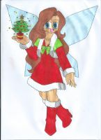 Cheryl the Christmas Tree Fairy by animequeen20012003