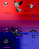 Darkness and Fullmoon reference 2015 by LunaticDemonLuny