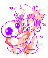 Isaac hugs by Gheistly