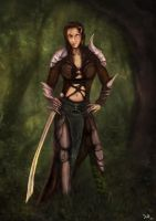 Jaheira Fan Art - Baldurs Gate by Nightlong86