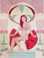 Art Nouveau(ish) Pink Champagne by StayGiant
