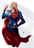 Supergirl Relaxing - Color by ellinsworth