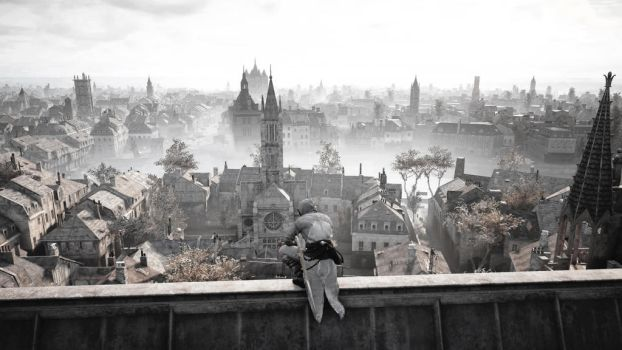 Assassin's Creed Unity: View of Paris by connectedbylateralus