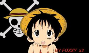Lucky star Luffy 2 by fox-xy