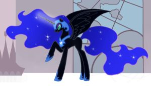 Nightmare Moon Alone by LadyRoxanne7