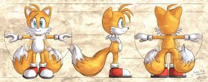 Modern Tails model sheet by glitcher