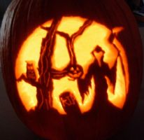 2009 pumpkin carving by Bloodchalice552