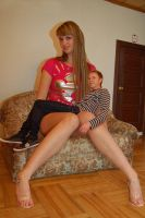 Tall Baltic girl lap by lowerrider