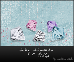 shiny diamonds - png by rainbows-stock