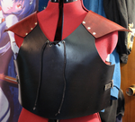 Quick Red-Shouldered Leather Armour by SerenFey