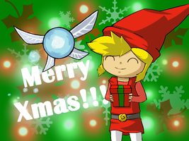Link says MERRY XMAS!! ~and here is your gift by Dante0K