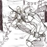 Duel doodling by Arista