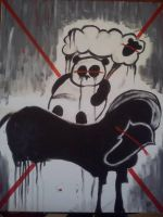 A sheep, a panda and a Horse by BenGarceau