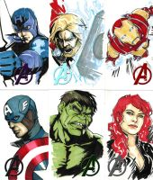 The Avengers by CrazyBluePsychopath