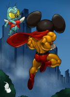 Mighty Mouse Vs Zipper by daetymn