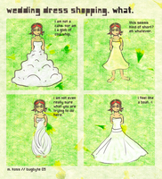 wedding dress shopping by bugbyte