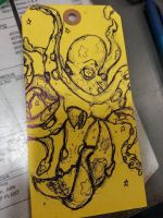 Inspection tag Octopi by Strange-Halloween