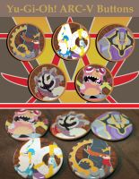 Yugioh Arc V Monster Buttons -  available now by VolbeatFiro