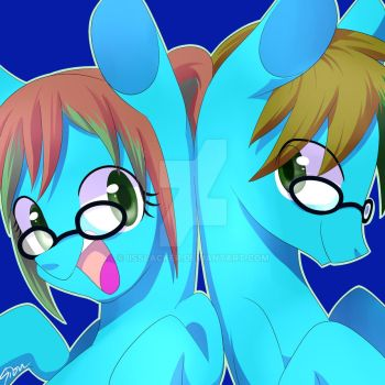 Volt and Amp icon commission. by IisSlacker