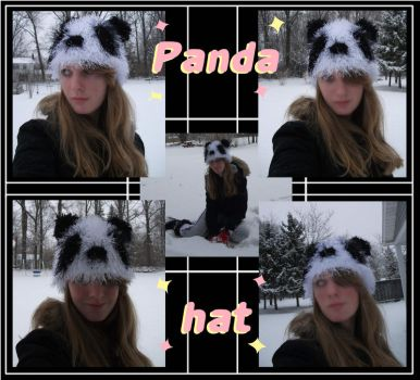 Crochet Panda Hat-old by Silent--Haze