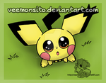 Notched ear Pichu by Veemonsito